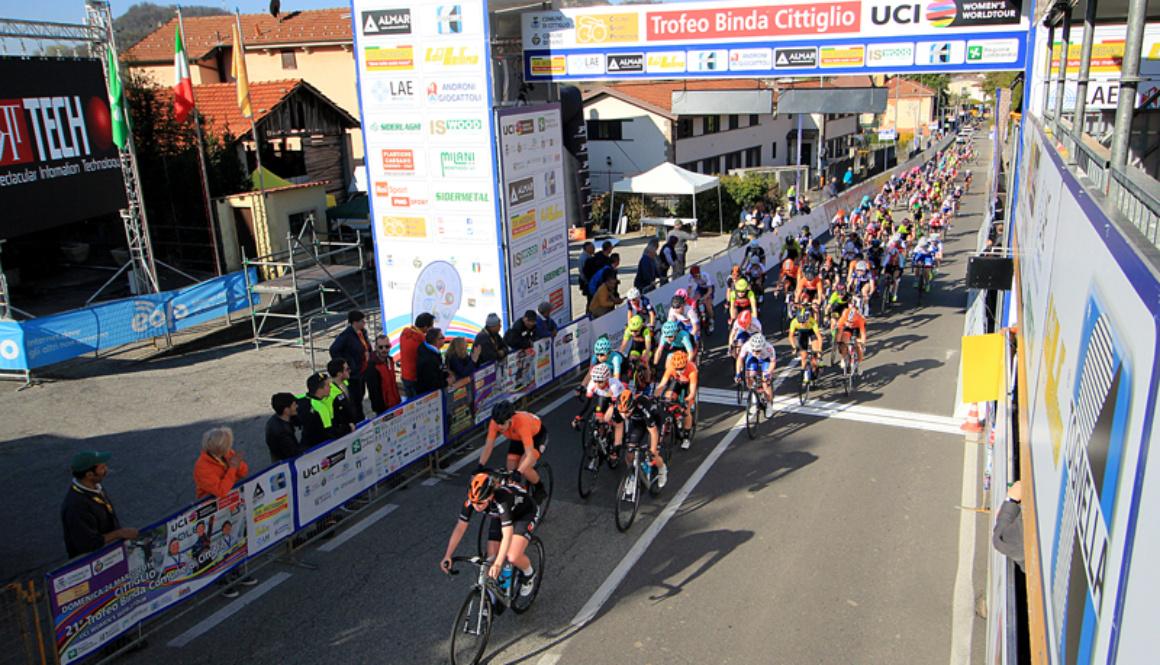 """Il saluto del governatore della regione Lombardia Attilio Fontana al """"Trofeo Binda U.C.I. WWT"""""""